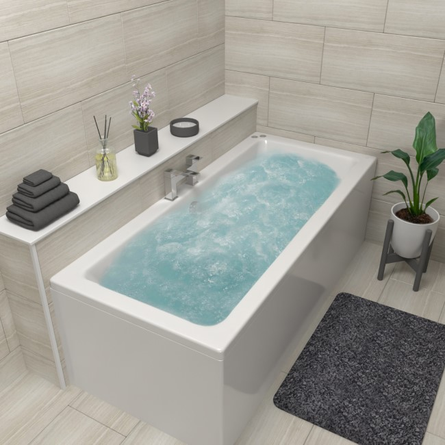 Chiltern Double Ended Bath with 14 Jet Whirlpool System and 12 Jet Airspa System - 1700 x 750mm