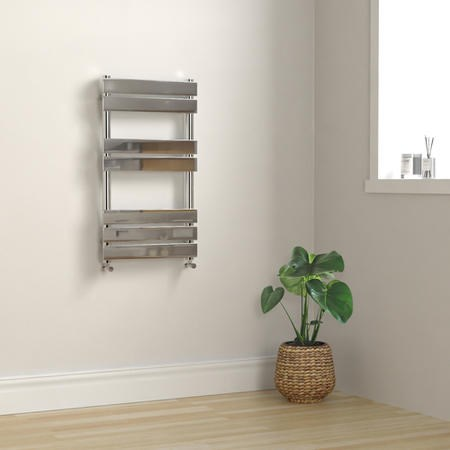 Tundra Heated Towel Rail - 800mm x 450mm - Chrome