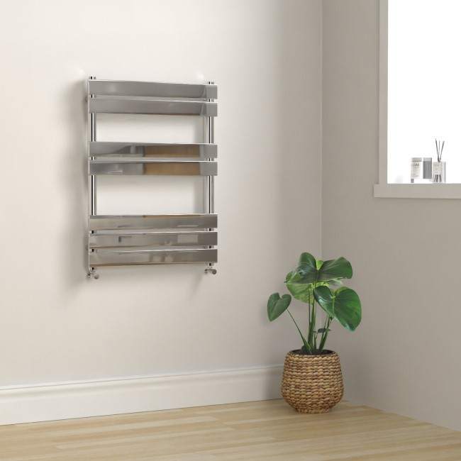 Tundra Chrome Heated Towel Rail - 800 x 600mm