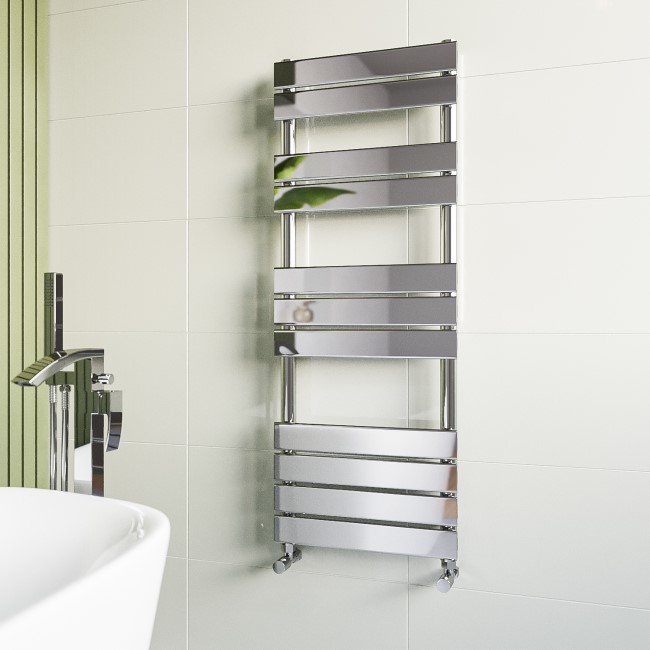 Tundra Chrome Heated Towel Rail - 1200 x 450mm