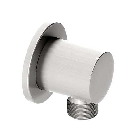 Round wall outlet - Chrome