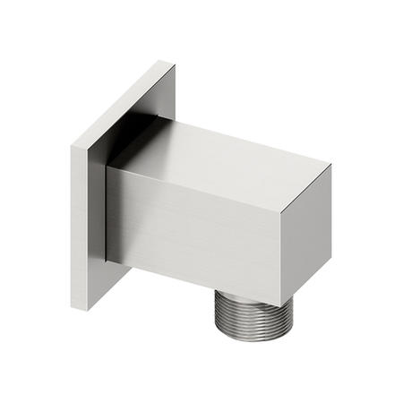 Square wall outlet - Chrome