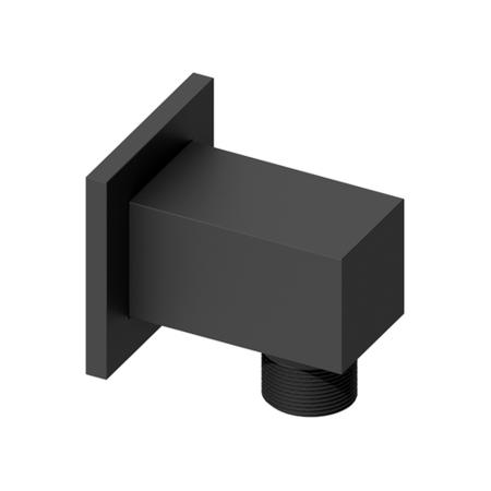 square wall outlet - Black