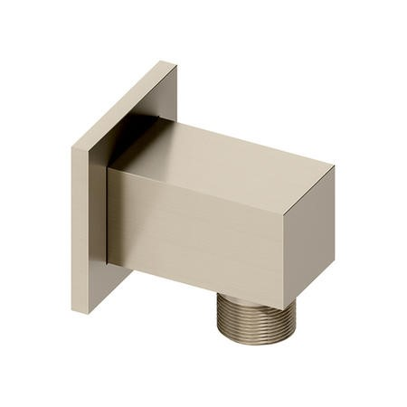 square wall outlet - Brushed Nickel