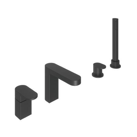 Hue Black Bath Shower Mixer Tap