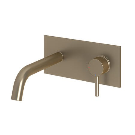 Kuro Brushed Nickel Wall Mounted Basin Mixer Tap