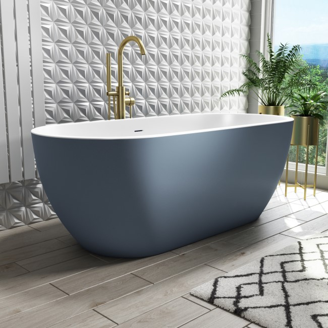 Sion Freestanding Double Ended Bath Blue - 1645 x 745mm
