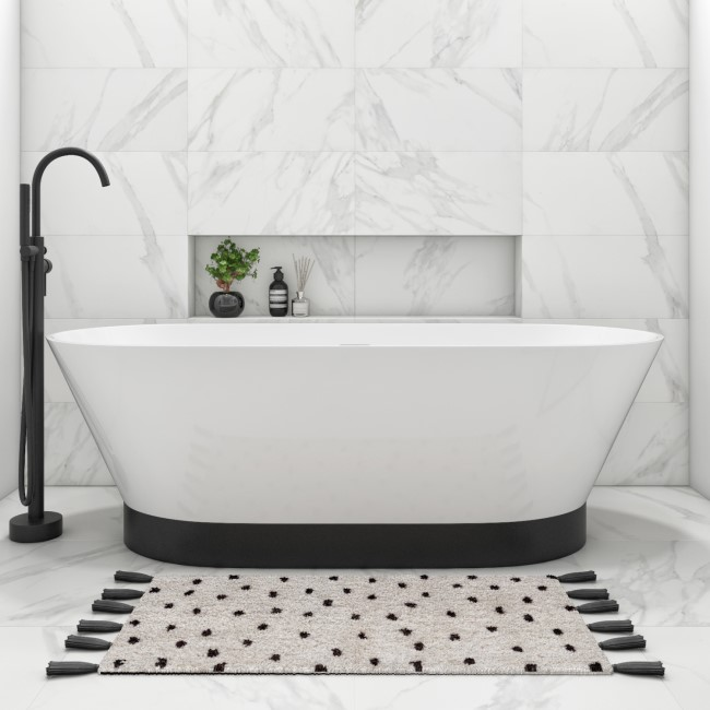 Nero Freestanding Double Ended Bath - 1700 x 720mm
