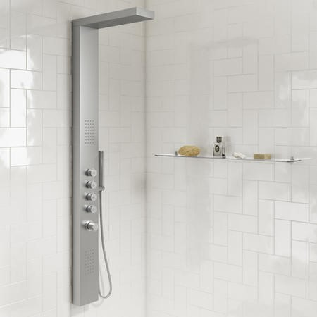 Provo Brushed Chrome Shower Tower