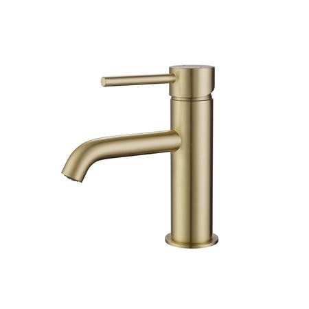 Arissa Round Brushed Brass Mono Basin Mixer Tap