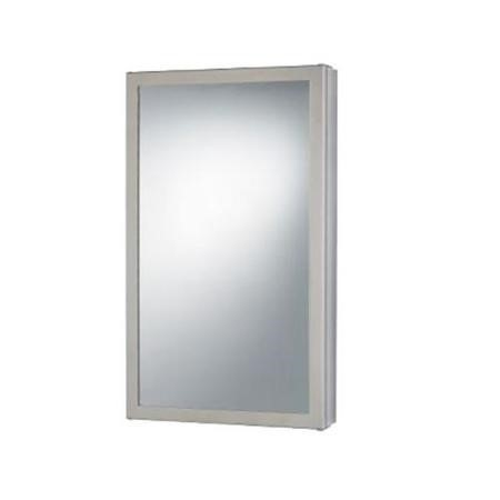 500mm Wall Hung Mirrored Corner Cabinet - Single Door Stainless Steel