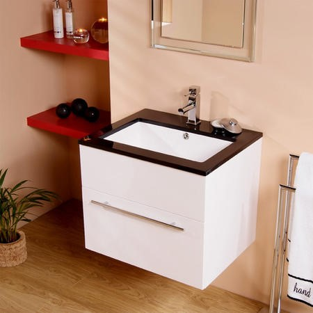 Eden 600mm Wall Mounted Vanity Basin Unit