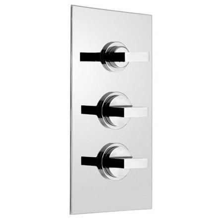 Concealed Triple Control Thermostatic Shower Valve - Geo Range
