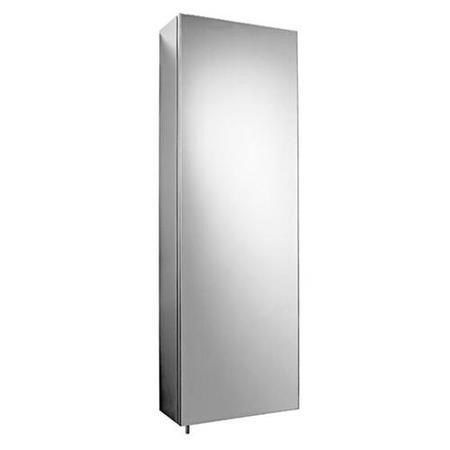 Stainless Steel Tall Mirrored Cabinet, Tall Bathroom Mirror Cabinet