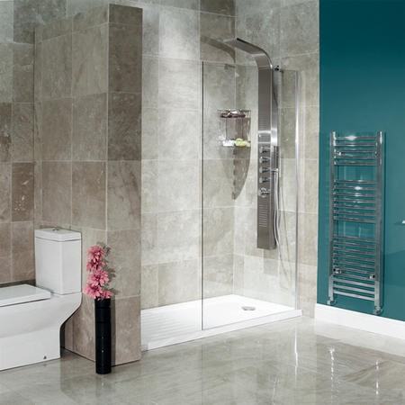 Walk-In Glass Shower Screen 1850 x 800mm - 8mm Glass - Aquafloe Elite Range