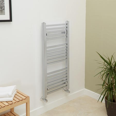 1000 x 450mm Square Chrome Heated Towel Rail - Beta Heat Range