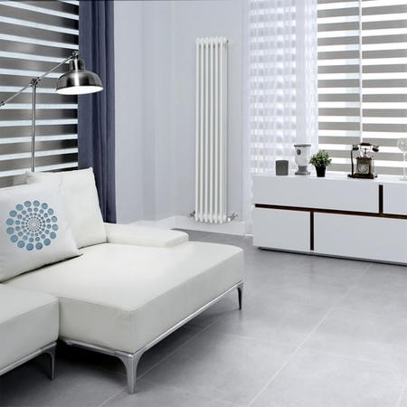 Belgravia 1500 x 287mm Tri-Column White Vertical Radiator