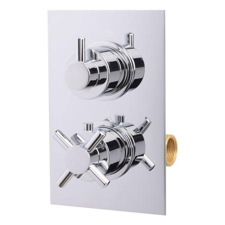 Style Concealed Dual Control Thermostatic Shower Valve