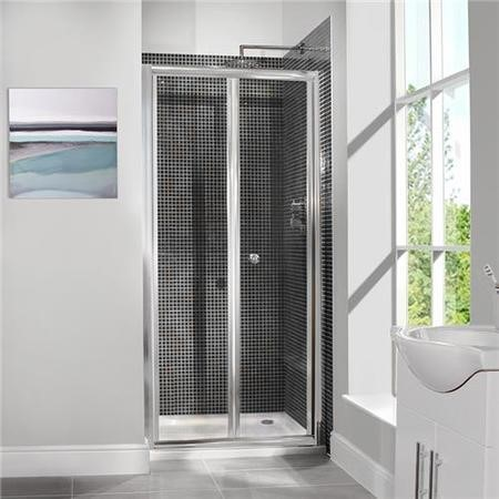 GRADE A1 - Bi-Fold Shower Door 1000m - 6mm Glass - Aquafloe Range