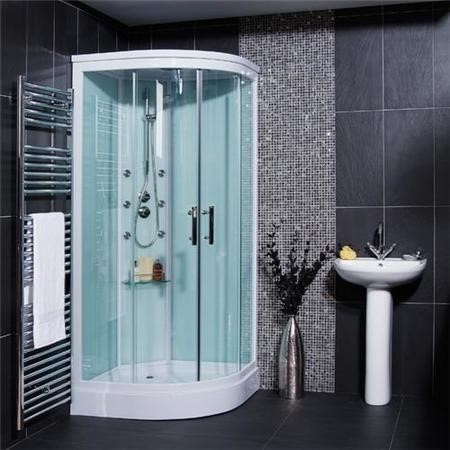 GRADE A1 - Aqualine Shower Cabin - Part 4 - Wall Glass