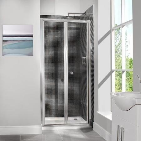 800mm Bi-Fold Shower Door 6mm Glass - Aquafloe