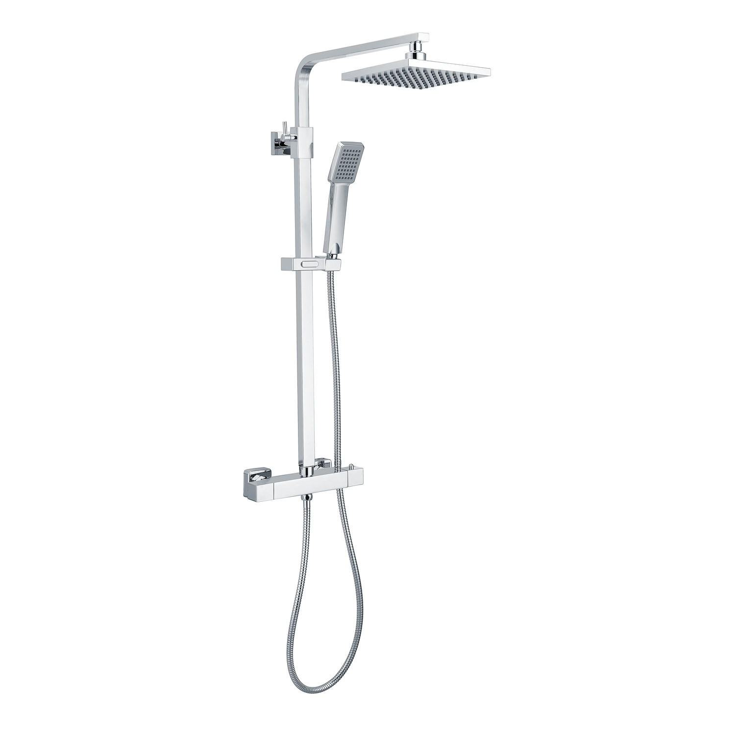 Vira Square Thermostatic Shower Set with Dual Valve