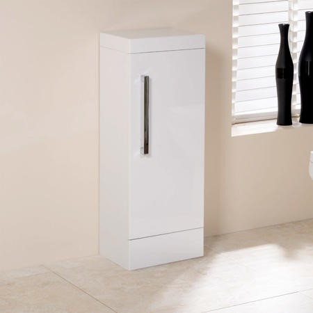 305mm Floor Standing Storage Unit - White Single Door Unit - TD Range