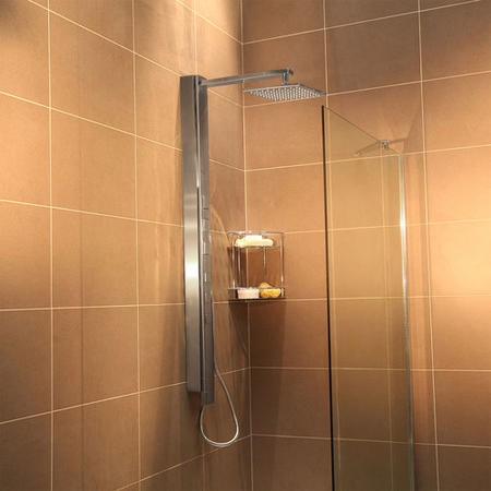Touch Steel Thermostatic Shower Tower Panel