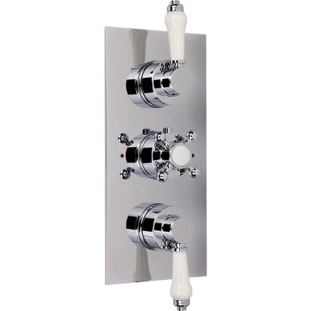 Traditional Concealed Triple Control Shower Valve