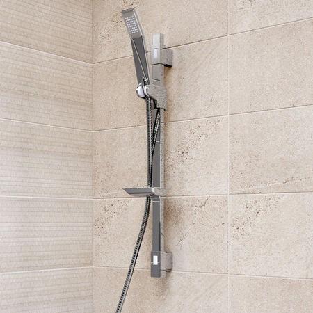 Quadro Square Slide Shower Rail Kit