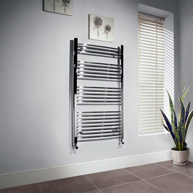 Beta Heat 1150 x 500mm Straight Chrome Heated Towel Rail