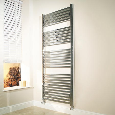 Beta Heat 1600 x 600mm Square Chrome Heated Towel Rail