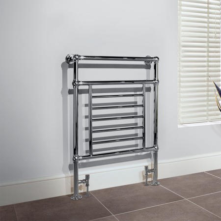 Belgravia Chrome Traditional Bathroom Towel Rail Radiator - 963 x 673mm