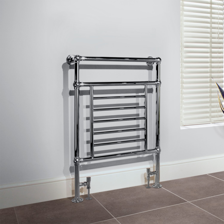 Belgravia Chrome Traditional Bathroom Towel Rail Radiator 963 X 673mm Better Bathrooms