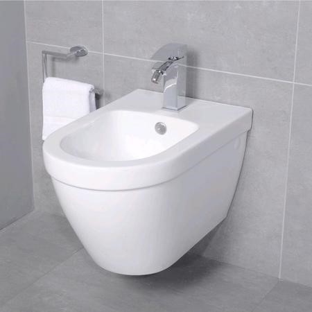 Aurora Round Wall Hung Bidet One Tap Hole