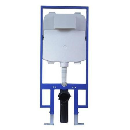 In Wall Mounted Fixing Frame Slimline Universal Cistern for Wall-hung Toilet, front operation