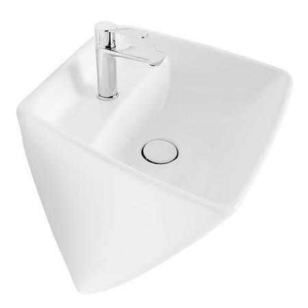 Vico White 1 Tap Hole Ceramic Wall Hung Basin