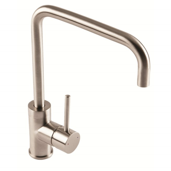1810 Sink Company Brushed Steel Single Lever Aerated Mixer Kitchen Tap - Cascata