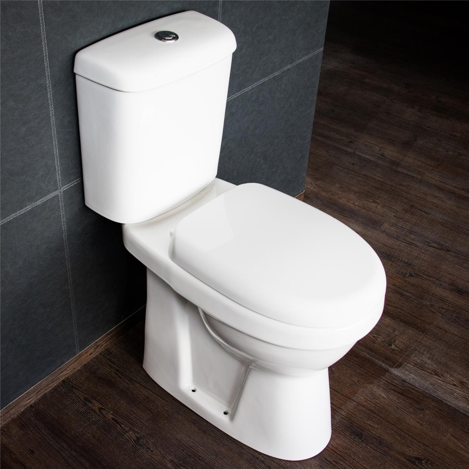 Outstanding Comfort Height Close Couple Toilet With Soft Close Seat Creativecarmelina Interior Chair Design Creativecarmelinacom