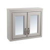 Grey Traditional Bathroom Mirror Cabinet - W700mm