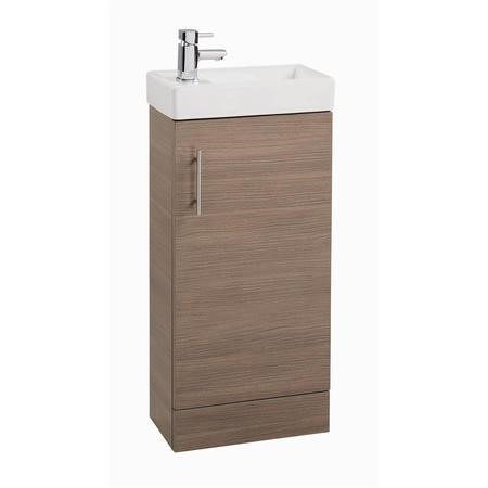Oak Cloakroom Vanity Unit & Basin - W400 x H860mm