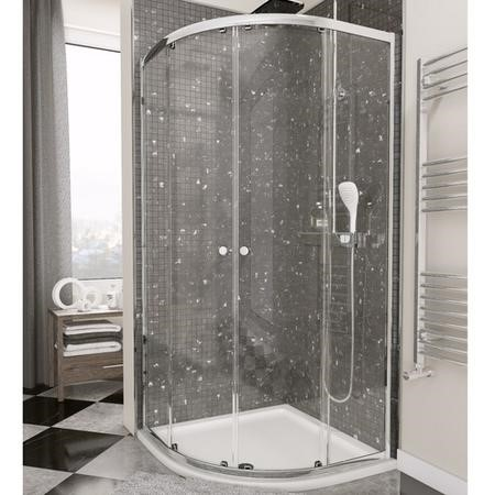 Quadrant Shower Enclosure - 800 x 800mm - 4mm Glass - Claritas Range