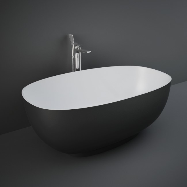 RAK Ceramics Freestanding Double Ended Bath Black - 1400 X 700mm