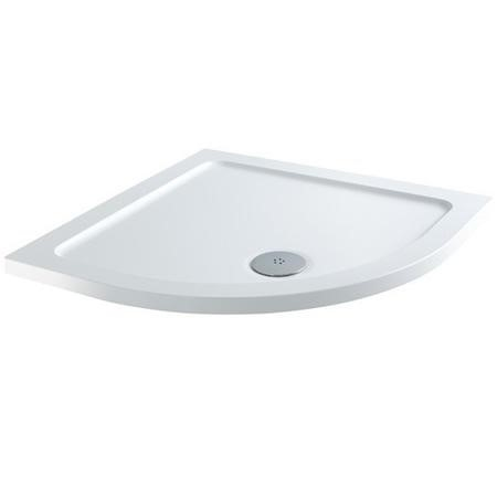 Claristone White Quadrant Shower Tray & Waste - 800 x 800mm