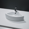 GRADE A1 - Small Cloakroom Countertop Corner Sink - 1 Tap Hole