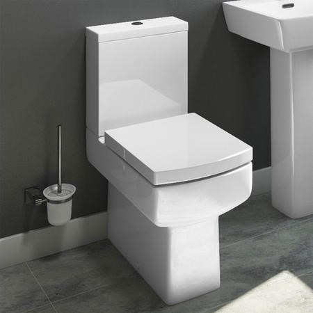 Delta Comfort Height Close Coupled Toilet with Soft Close Seat