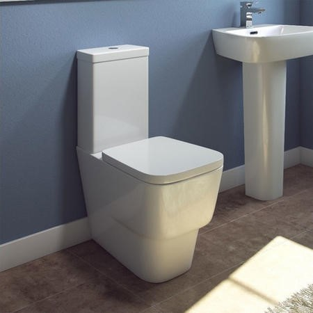 Step Close Coupled Toilet with Soft Close Seat