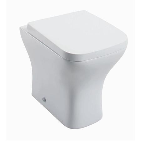 Lavender Back to Wall Toilet with Wrap Over Style Soft Close Seat