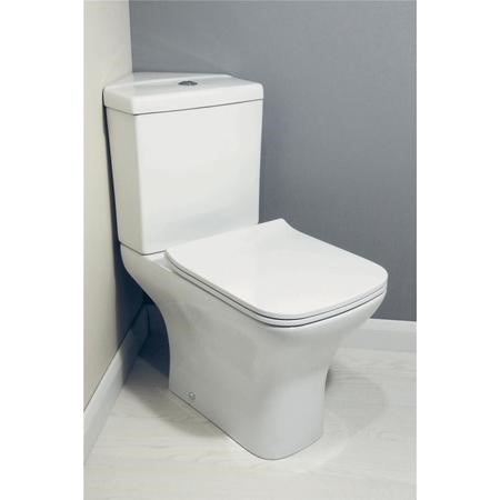 Lavender Corner Toilet with Slimline Soft Close Seat