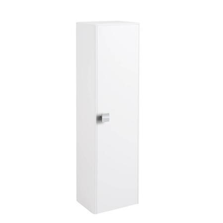 White Wall Hung Tall Bathroom Storage Unit - H1200mm